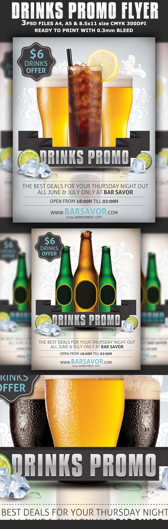 Drinks Promo Flyer Template On Behance