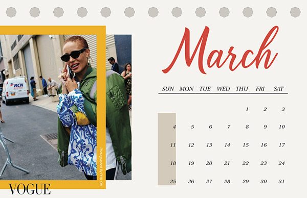 Fashion Week Calendar On Student Show