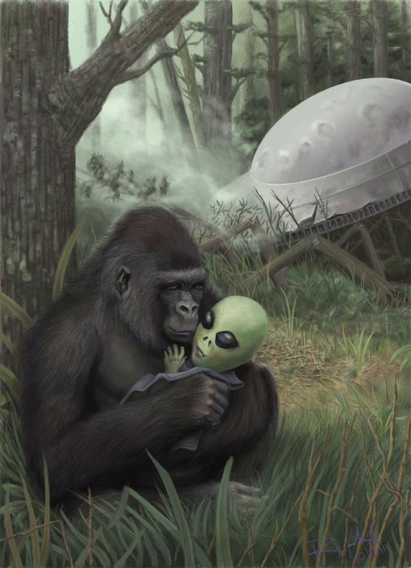 gorilla alien Interplanetary Adoption