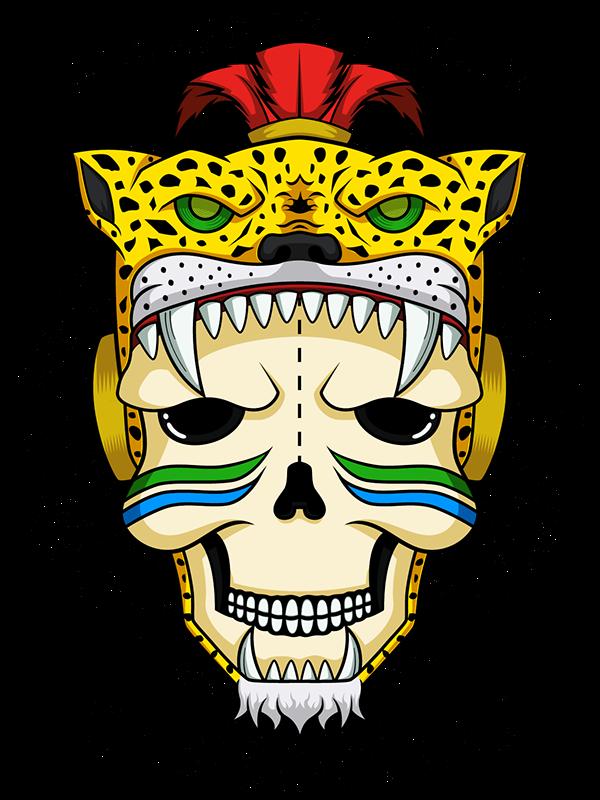 Calavera Guerrero Jaguar Azteca On Behance