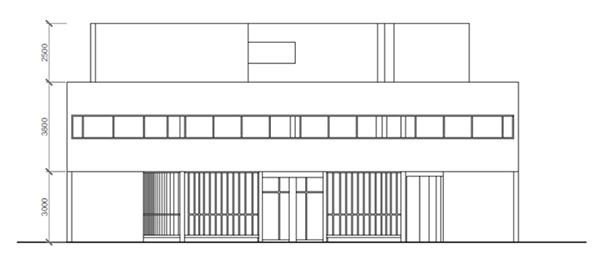 Villa Savoye Front Elevation : Visualize villa savoye on behance