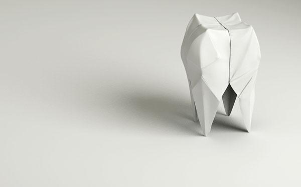 Как сделать зуб из бумаги оригами