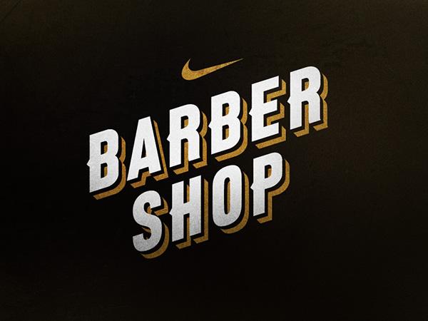 Barber Shop Logo >> Nike Barbershop on Behance