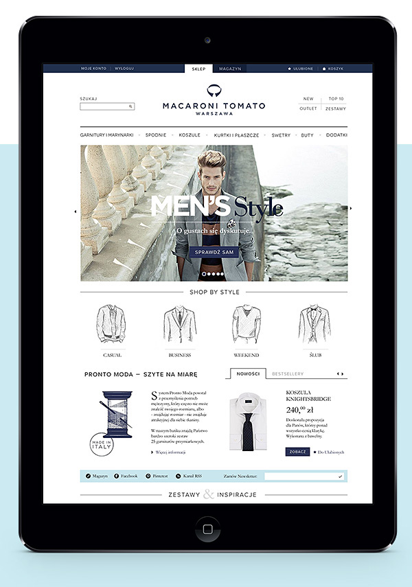 suit men tie elegant Classic navy blue model Style Blog magazine store e-commerce Online shop shop