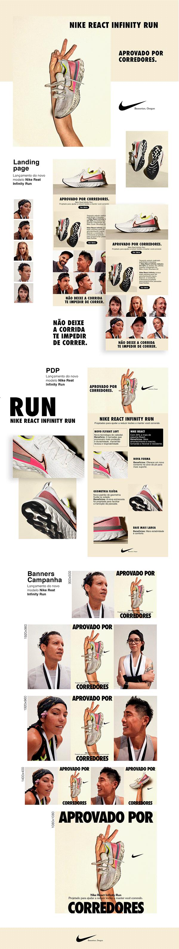 Lançamento do novo modelo - Nike React Infinity Run