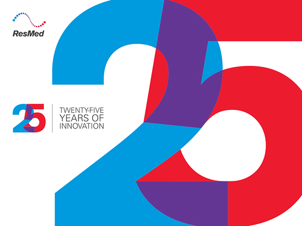Resmed 25th anniversary logo on behance altavistaventures Image collections