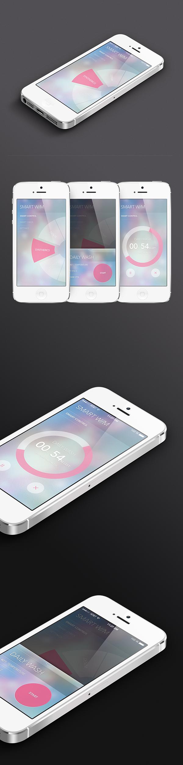 smart washer app ui on behance. Black Bedroom Furniture Sets. Home Design Ideas