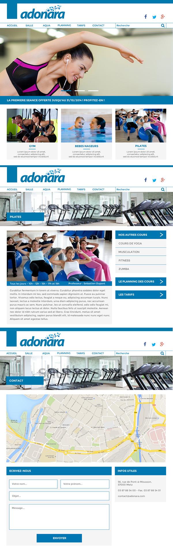fitness aqua club Web