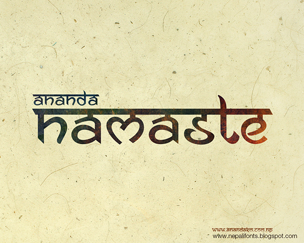 ... inspired font. It is the imitation of Nepali or Hindi fonts