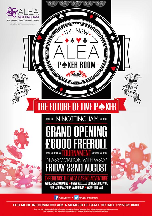 casino Poker Nottingham poster Vegas Caesars alea