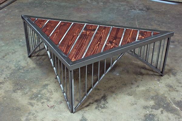 Triangle coffee table on behance One of a kind coffee tables