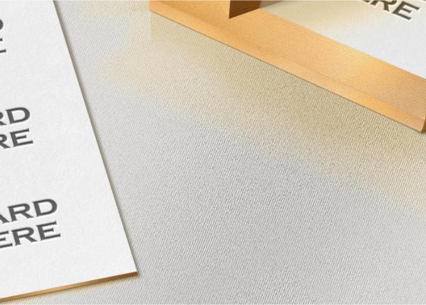 mock-up Mockup photoshop card identity showcase letterpress logo free psd