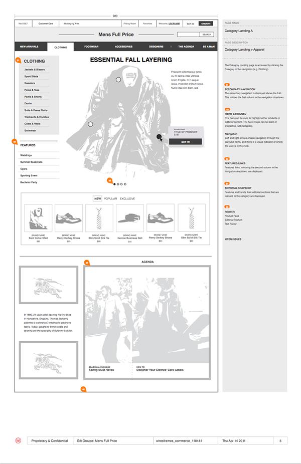 Ecommerce wireframes flows Sitemap Hot Studio