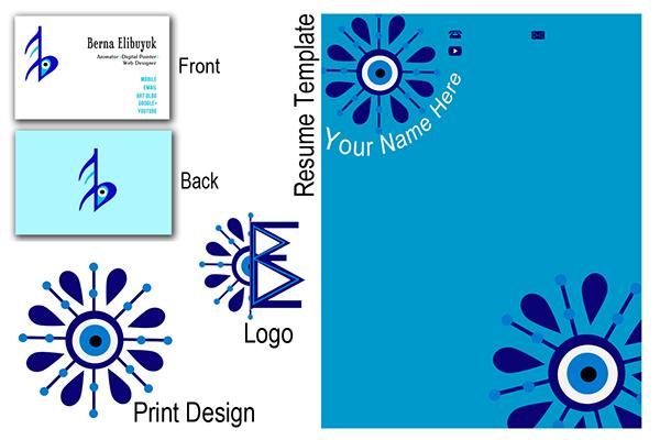Personal Logo Resume Design On Behance
