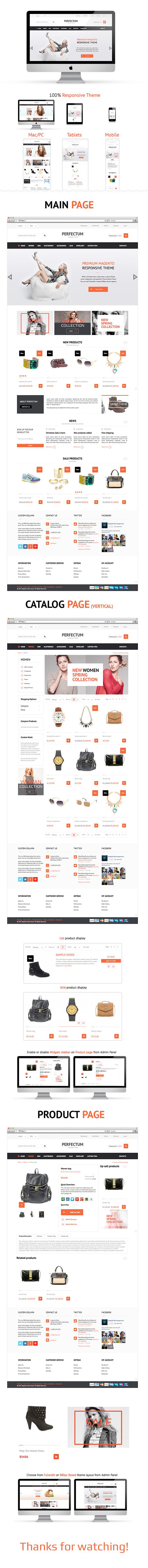 Web Webdesign magento shop UI Style design