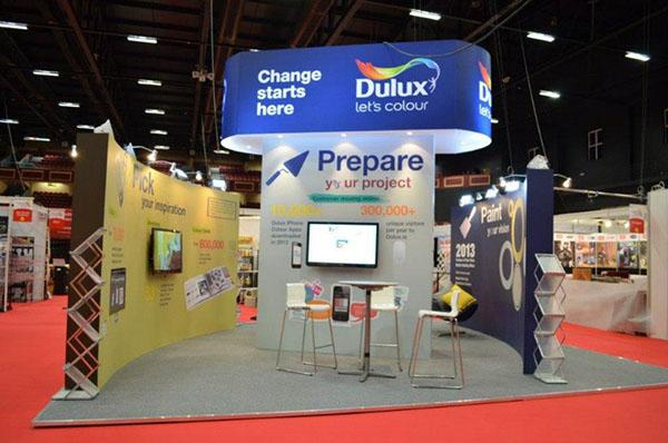 Exhibition Stands Ireland : Dulux paints ireland exhibition stand dublin on behance