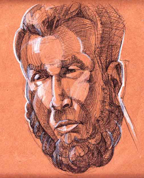 portrait face drawing Life Study Figure Drawing face  study