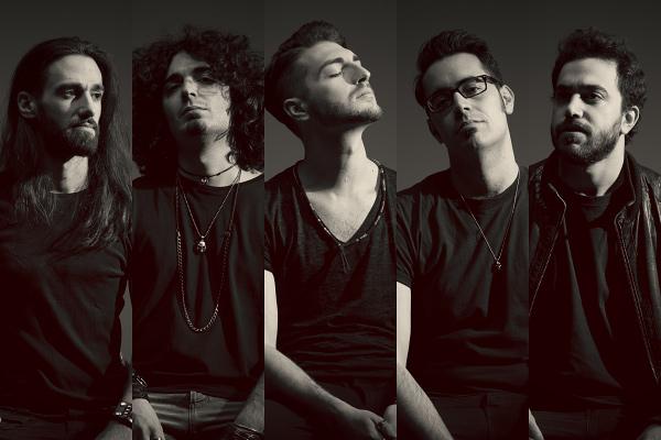 band double exposure studio photomontage black & white portraits rock killer sanchez