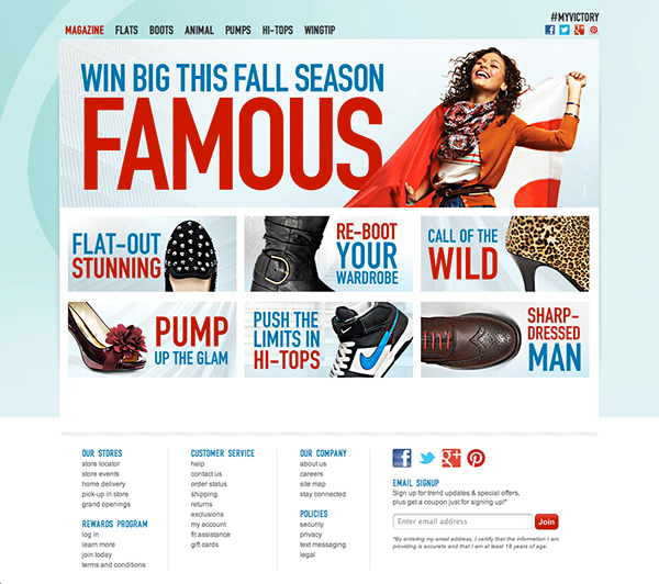 Famous Footwear Fall Style Magazine on Behance