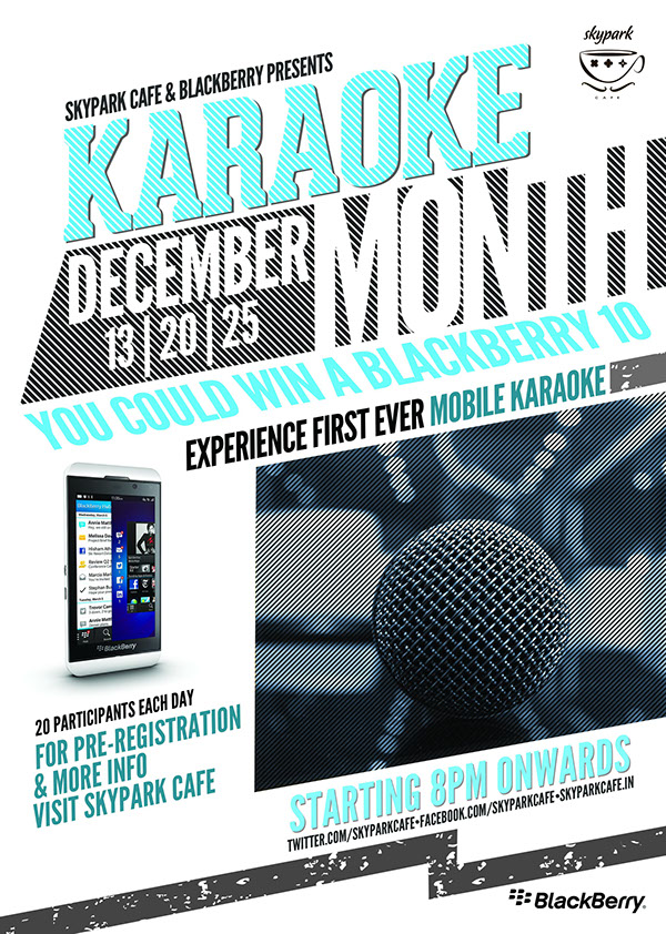 Karaoke Poster Idea Skypark Cafe Karaoke Poster on