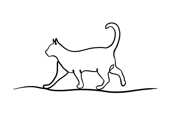 Single Line Drawings Of Animals : One line animals for vet rebranding on behance