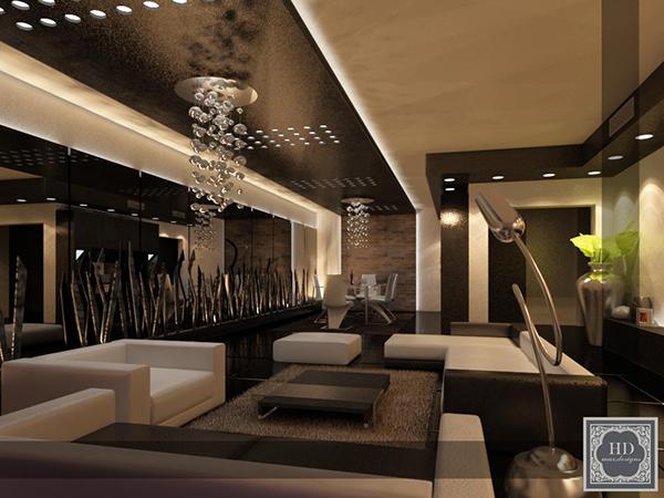 Modern Design Of An Apartment Reception On Behance