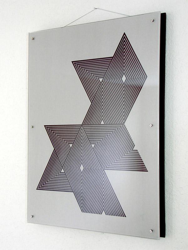Geometric Art glass sculpture