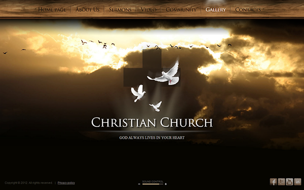 Christian Church HTML Template On Behance - Church website templates