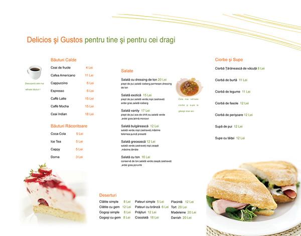 Restaurant menu example on behance