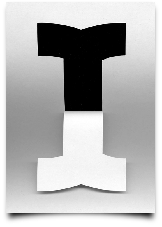 scan paper type black White digital analog hand craft cut photo graphic alphabet mood letters