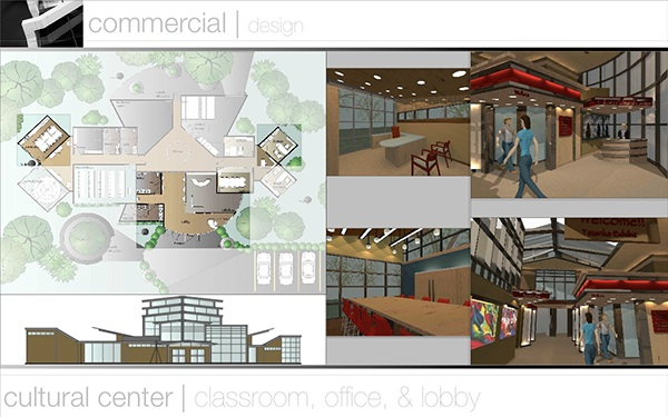 Interior design portfolio commercial design on behance for Commercial interior design companies