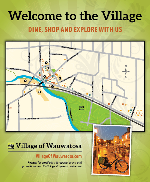 Wauwatosa BID map flyer on Behance