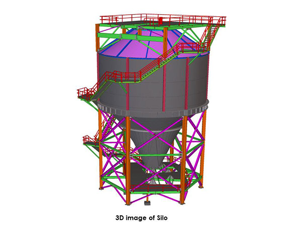Structural Steel Detailing & Modeling of Silo by Tekla on Wacom Gallery