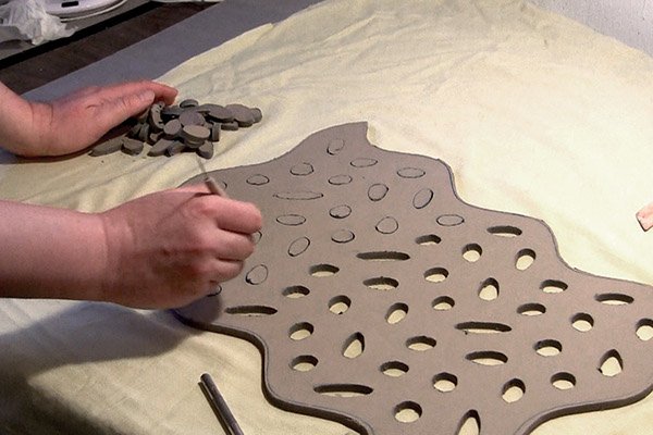 sculpture  photoshop design  stoneware design transfer  tracing Hand Building ceramic sculpture geometry design  visualization Marek Jacisin