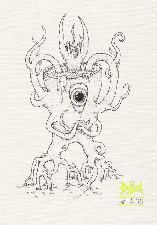 demon monster root vine cauldron bubbles Magic