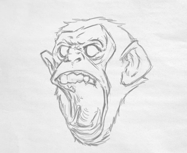 angry chimp on behance