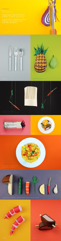 Food  papercraft Startup