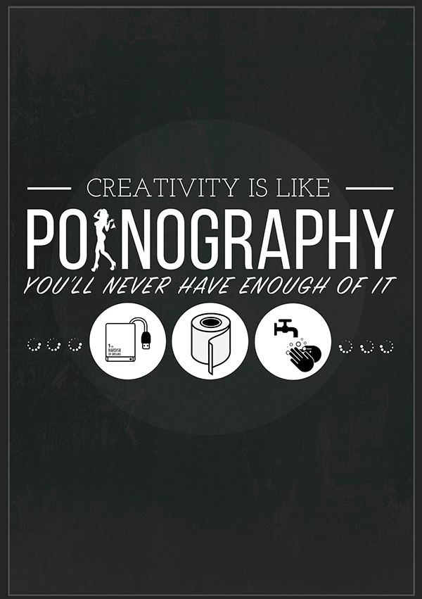 Like a pornography poster