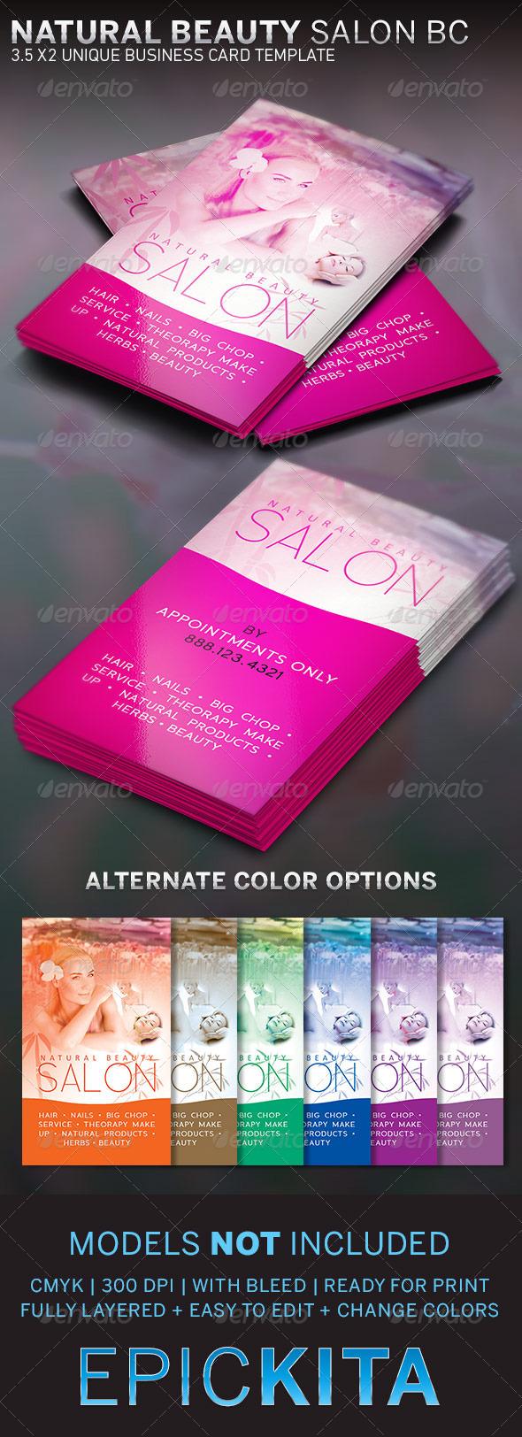 Beauty Salon and Spa Business Card on Behance