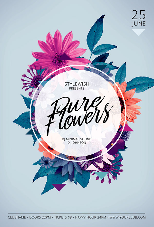 floral poster designs on pantone canvas gallery