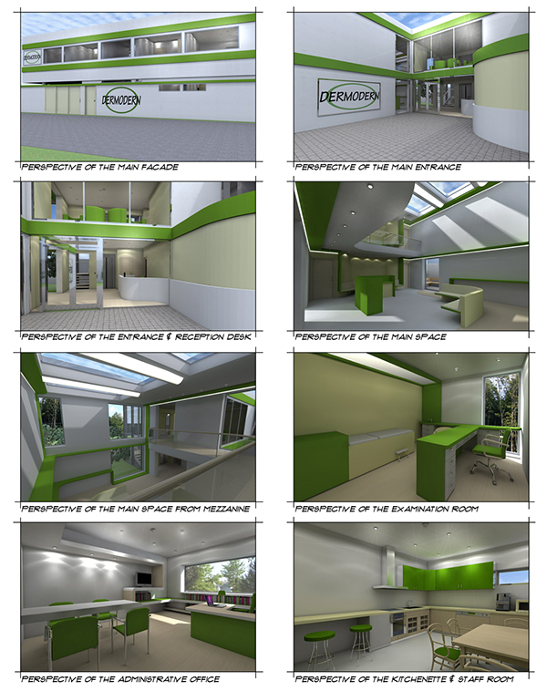 Dermatology clinic in ankara turkey on behance for Dermatology clinic interior design