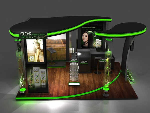 Exhibition Stand Design Behance : Clear booth design on behance