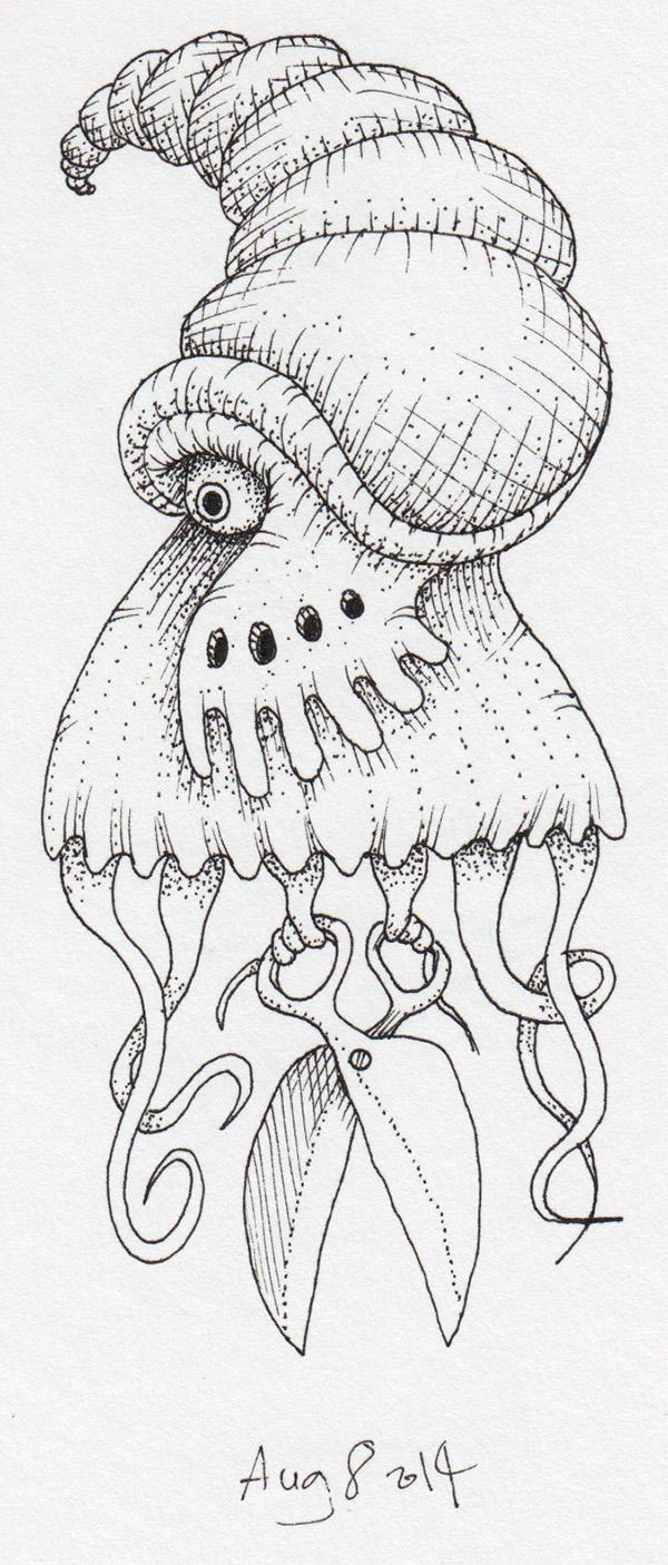 ink monster demon freak devil doodle daily