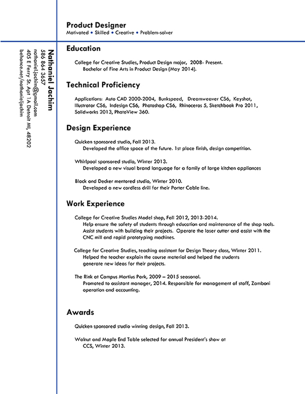 resume on ccs portfolios