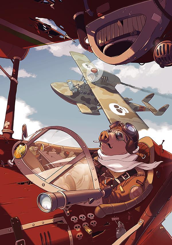 Ghibli tribute |  Porco Rosso by Janusz Wyrzykowski