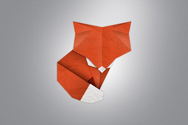 Paper Fox Origami Illustration On Behance