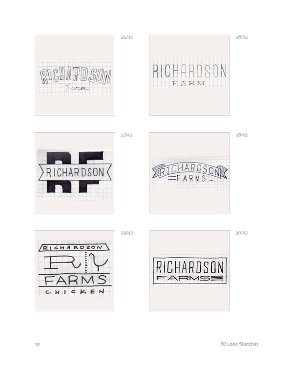 Richardson Farms Identity Collateral On Behance
