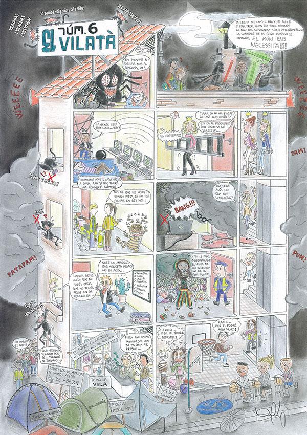 "Drawings for the magazine ""El Vilatà"""