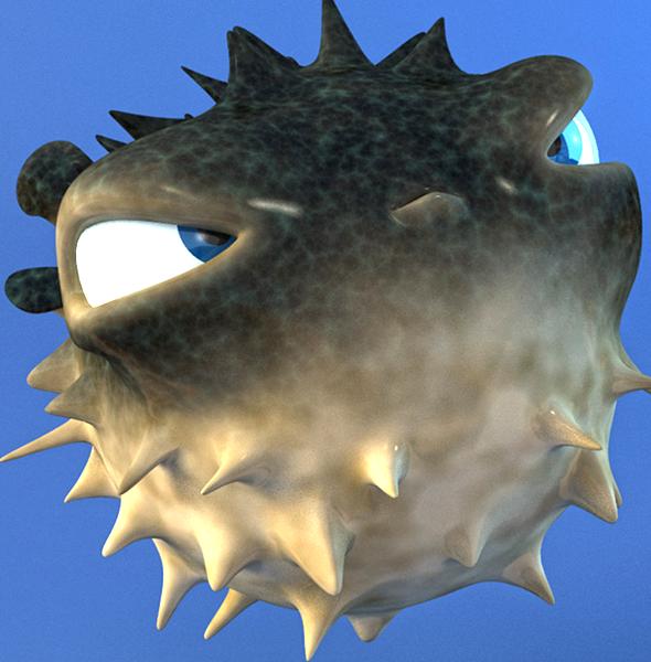 Cartoon puffer fish for sale on behance