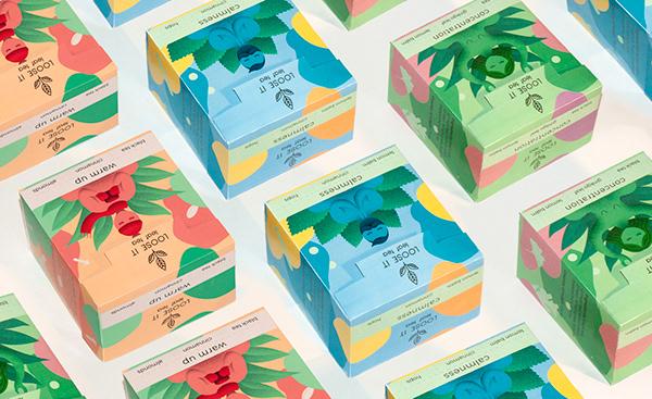 LOOSE IT leaf tea - branding & packaging design